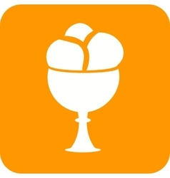 Icecream goblet vector