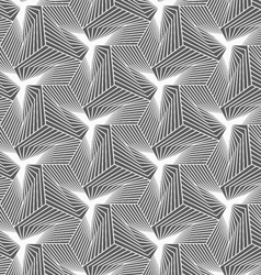 Monochrome striped shapes forming pyramids vector