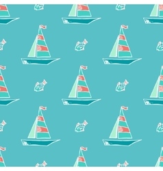 Marine pattern vector