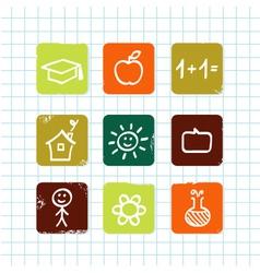 doodle school vector image