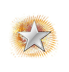 silver star vector image