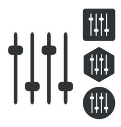 Faders icon set monochrome vector