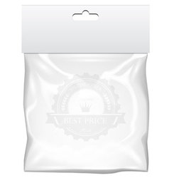 Plastic pocket bag mock up vector image