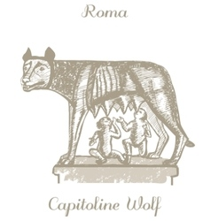 Capitoline wolf vector