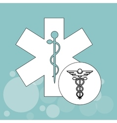 Colorful medical care design vector