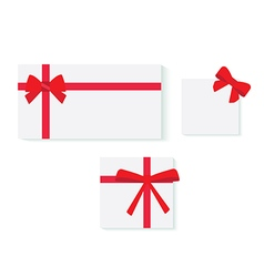 Objects gift wrapping vector