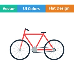 Ecological bike icon vector