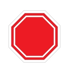 Red blank stop sign vector