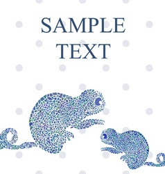 Abstract funny chameleon cartoon text vector image vector image