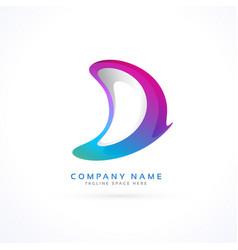 Abstract letter d creative logo vector