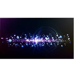 Abstract technological illuminated wave background vector
