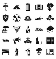 Affliction icons set simple style vector