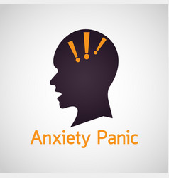 Anxiety panic icon vector