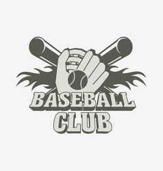 Baseball logo badge or label design template with vector