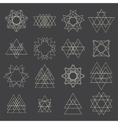 Collection of geometric shapes design elements vector