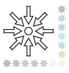 Compress arrows icon vector