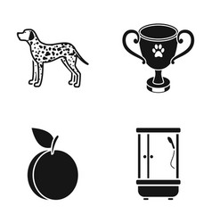 Cooking competition and or web icon in black vector