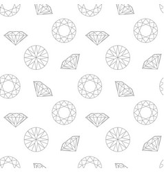 diamond concept seamless pattern fashion style vector image vector image
