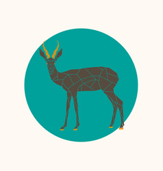 gazelle in a polygon style vector image