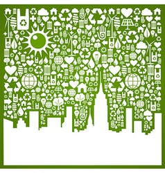 Go green city background vector image vector image