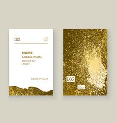 Gold paint splash splatter explosion glitter vector