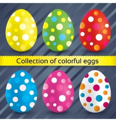 Happy easter colorful textured eggs collection vector image vector image