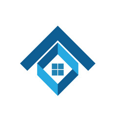 house business logo vector image vector image