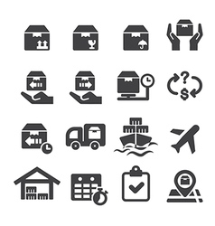 logistics icon vector image