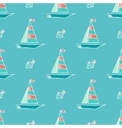Marine pattern vector image