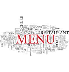 Menu word cloud concept vector