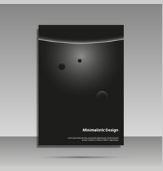 minimalist design black and white brochure vector image vector image