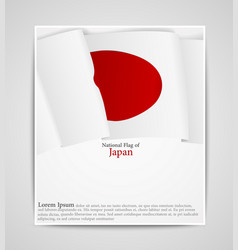 national flag brochure of japan vector image