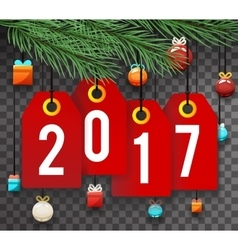 New year 2017 text symbol labels icon transperent vector