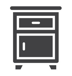 nightstand solid icon furniture and interior vector image vector image