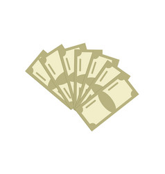 Paper money isolated icon vector