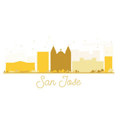 San jose city skyline golden silhouette vector