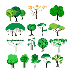 Set of decorative tree vector