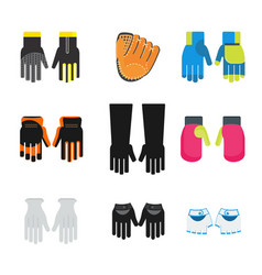 set of gloves vector image vector image