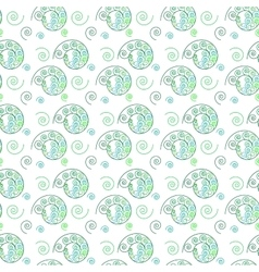 Spiral green seamless pattern vector image