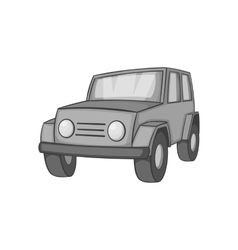 Jeep icon black monochrome style vector
