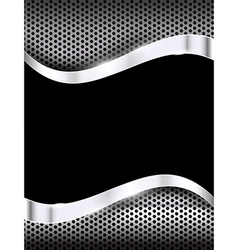 Polished steel texture on hold metal with curve vector