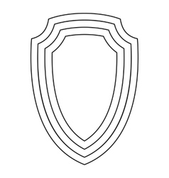 Army shield icon outline style vector