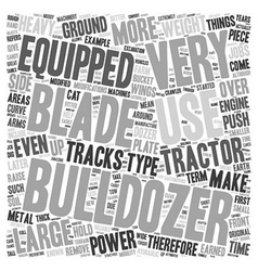 Bulldozer text background wordcloud concept vector