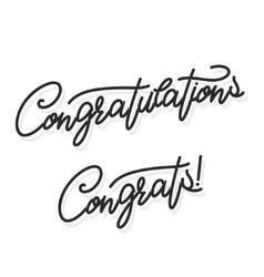 Congratulations hand lettering vector