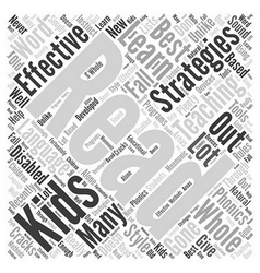 Effective teaching strategies word cloud concept vector