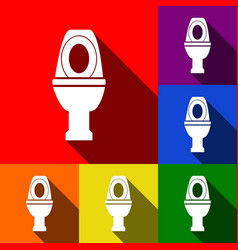 Toilet sign   set of icons vector