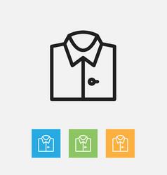 Of shopping symbol on shirt vector