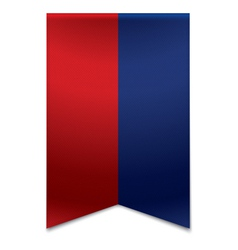 Ribbon banner - flag of liechtenstein vector