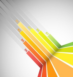 Abstract design banner with colorful lines vector