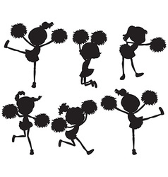 A group of cheerers vector
